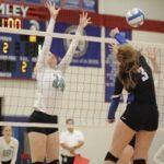 Simley High School Girls Varsity Volleyball beat Mahtomedi High School 3-0