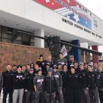 Simley Boys hockey checking out the Hockey Hall of Fame in Eveleth, MN
