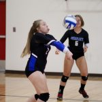 Spartan Volleyball Defeats Hastings on Pink Out Night