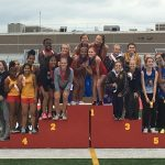 Girls Track Wins Three Events at Conference Championships