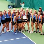 Girls Varsity tennis 2nd place Section 3AA