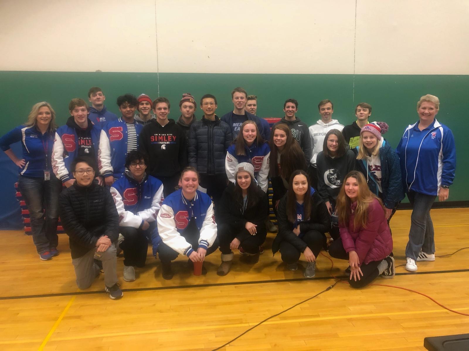 Simley Swim & Dive Teams Visit Hilltop Elementary