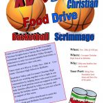 Scrimmage & Food Drive!