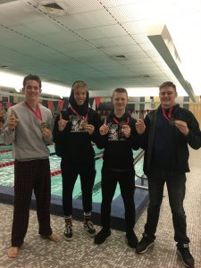 KV boys won the 500 freestyle Relay at Rensselar