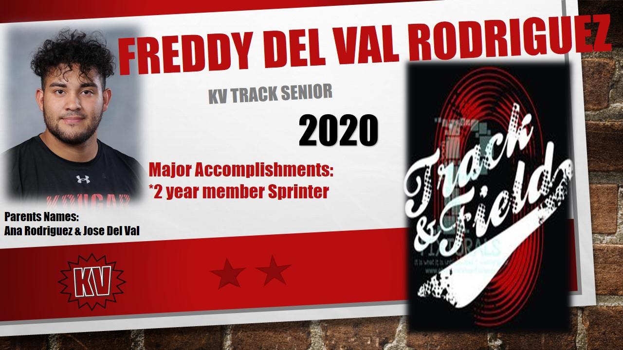 "Senior Track- Jose ""Freddy"" Del Val Rodriguez"