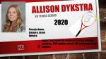 Senior Tennis- Allison Dykstra