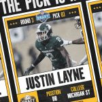 "Justin Layne ""JL""  selected by the Pittsburg Steelers at the 83rd Pick!"