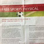 Free Sports Physical June 8 and 15