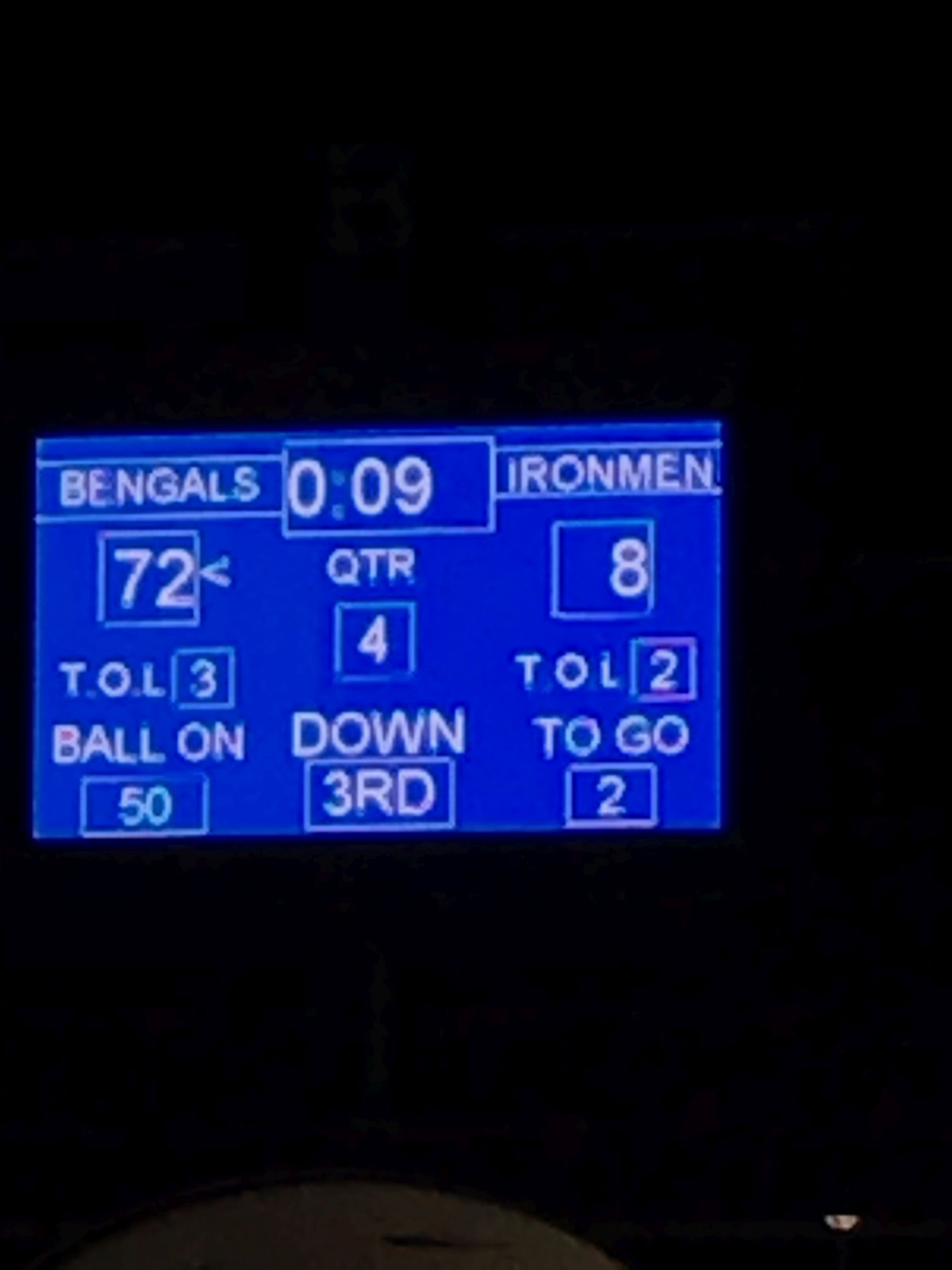 Varsity Bengals Football Improve to 3 and 0!