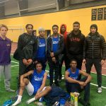 Indoor Track Team with First Place Heat Finishes!