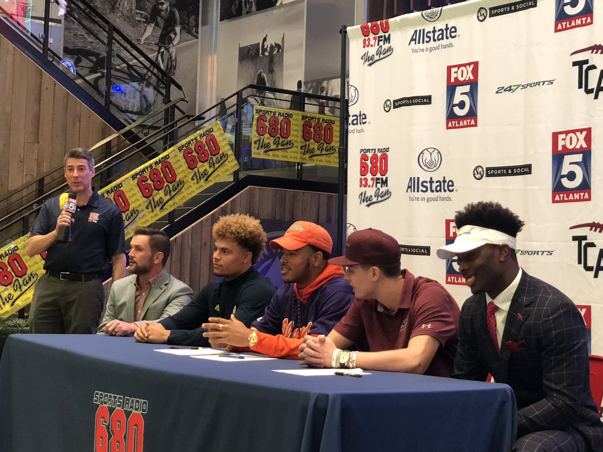 Milton players participate in football early signing event