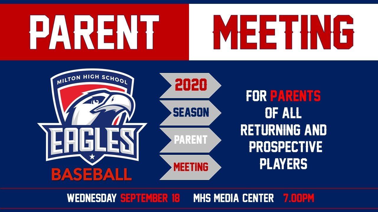 Baseball Parent Meeting – 9/18