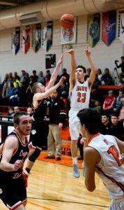 Pics of Boys Varsity Basketball vs. Oregon Davis 2/2/17
