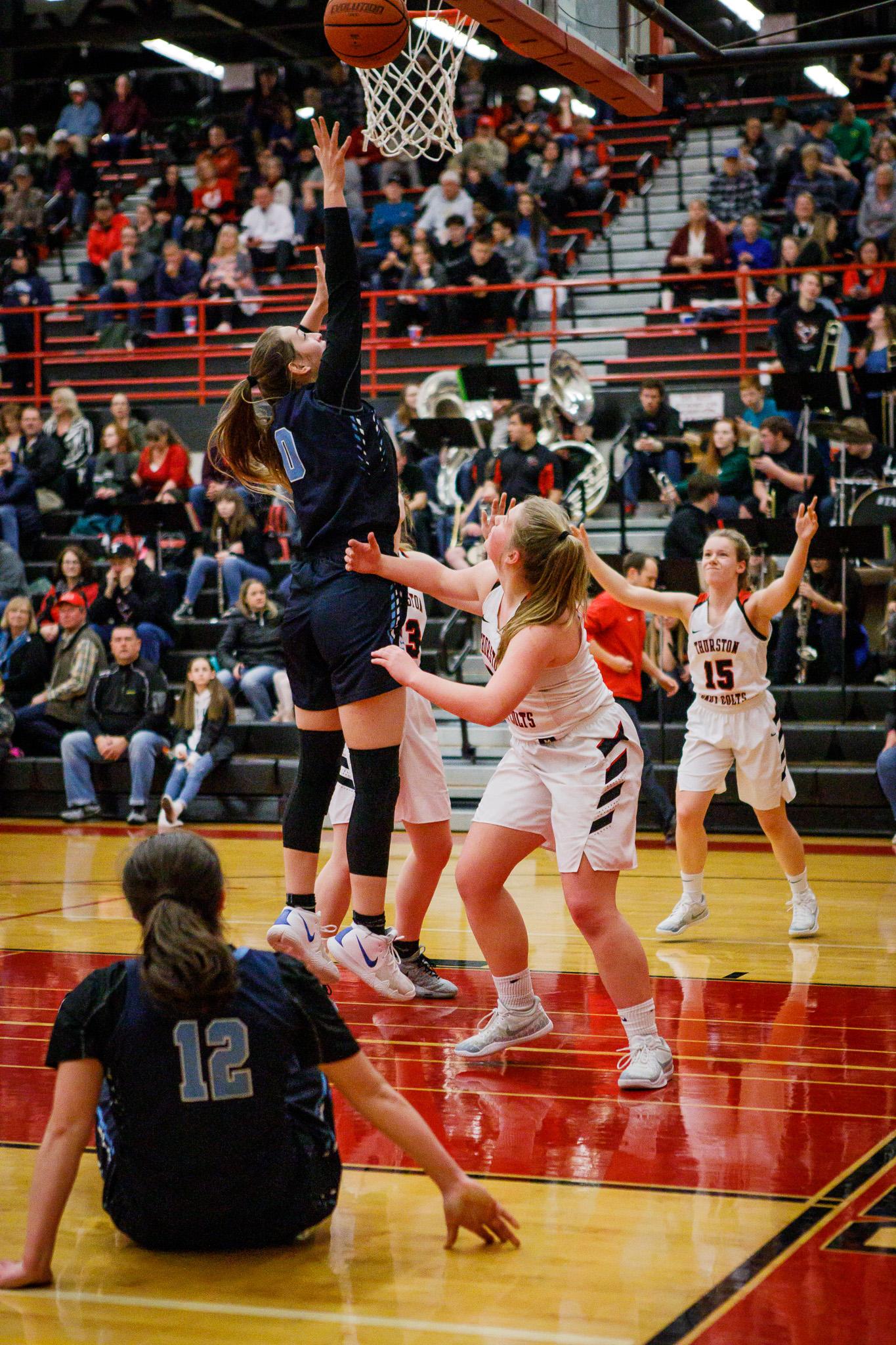 Girls Varsity Basketball beats Thurston 61 – 57