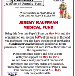 Fundraiser for Kauffman Medical Fund
