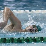 Boys Varsity Swimmers and Divers fought hard against New Castle