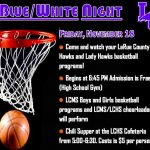 BLUE/WHITE NIGHT IS NOVEMBER 18TH