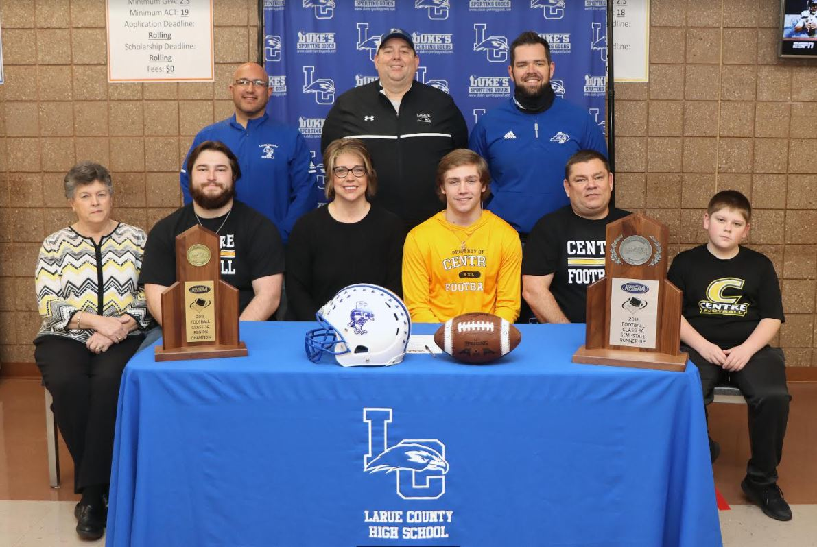 CONNOR BAKER SIGNS WITH CENTRE COLLEGE TO PLAY FOOTBALL