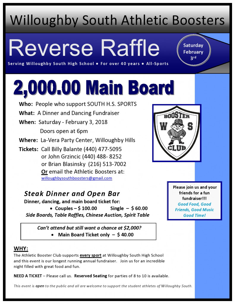 Booster Reverse Raffle- 2/3