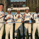 Huntingtown High School Varsity Baseball beat Leonardtown High School 8-7