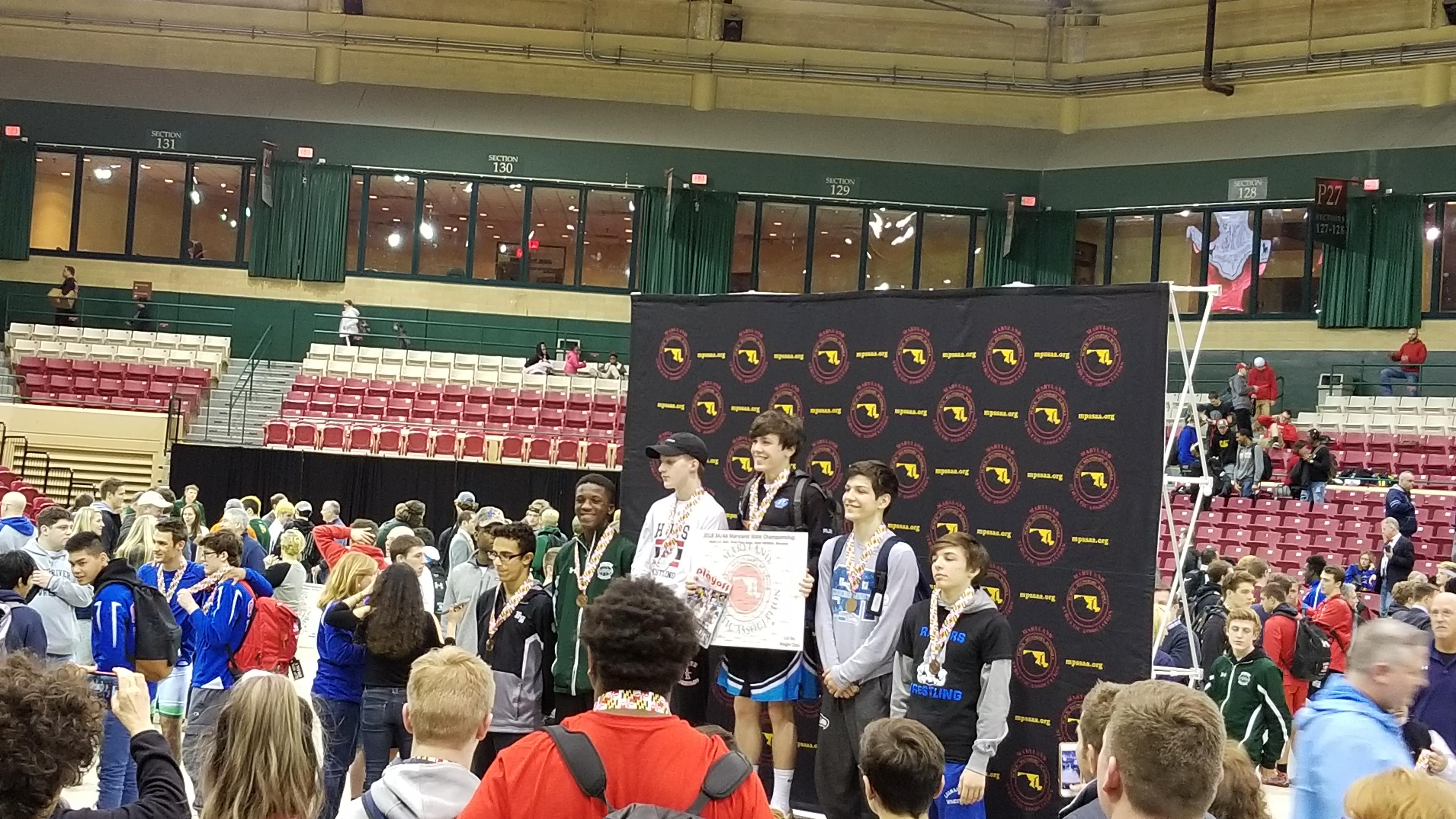 Wrestling State Individual Champion Blake Jury