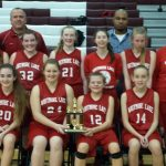 2nd place finish for 8th grade girls @ Morenci Tournament
