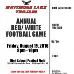 Red and White game is set for August 19th @ 8:00PM