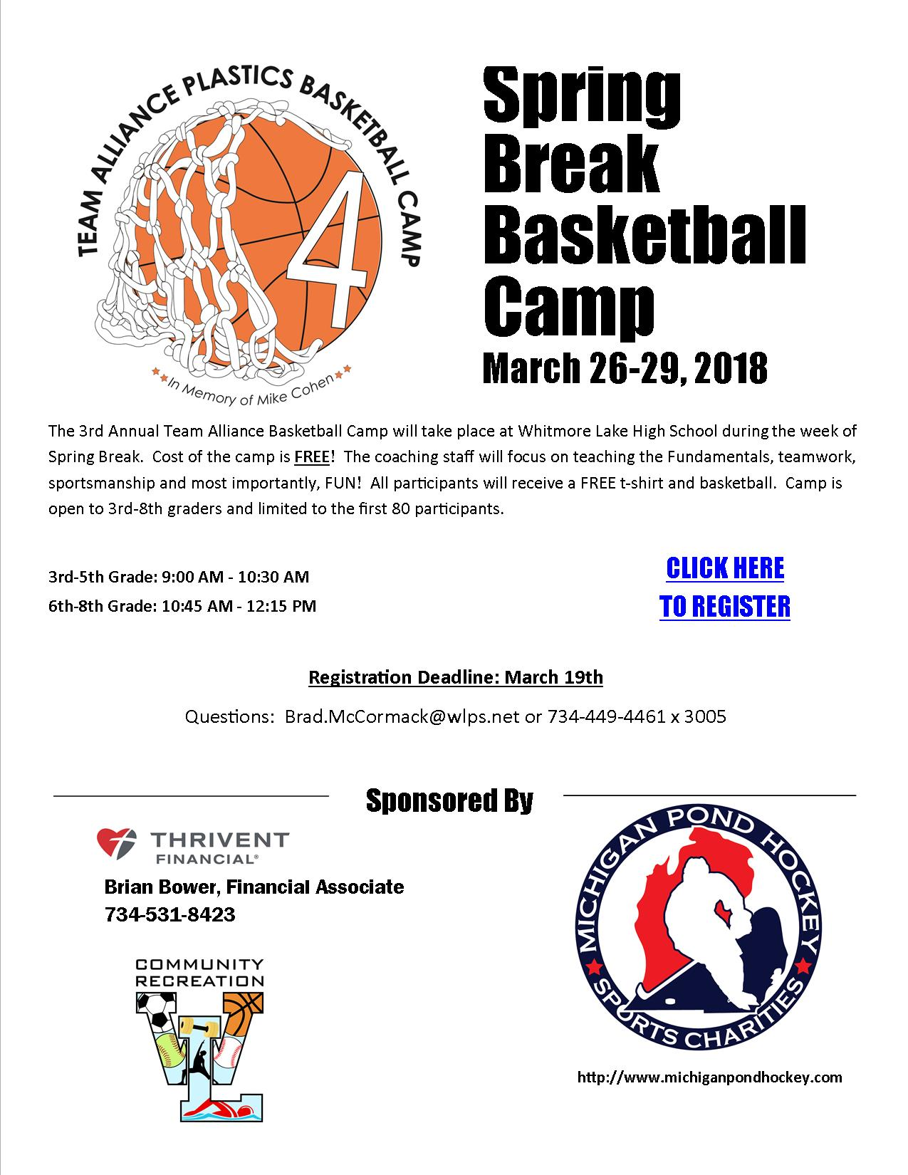 FREE Spring Break basketball Camp