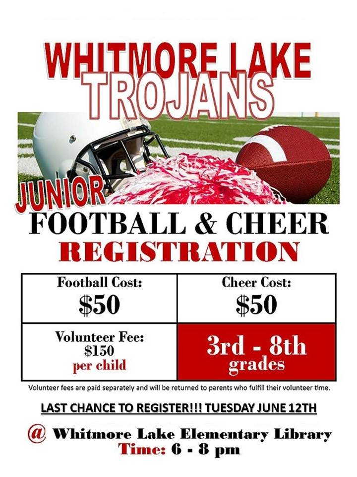 Register for Jr. Football on May 22nd