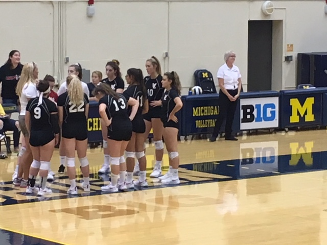 Watch the varsity volleyball quad @ Manchester on MHSAA TV