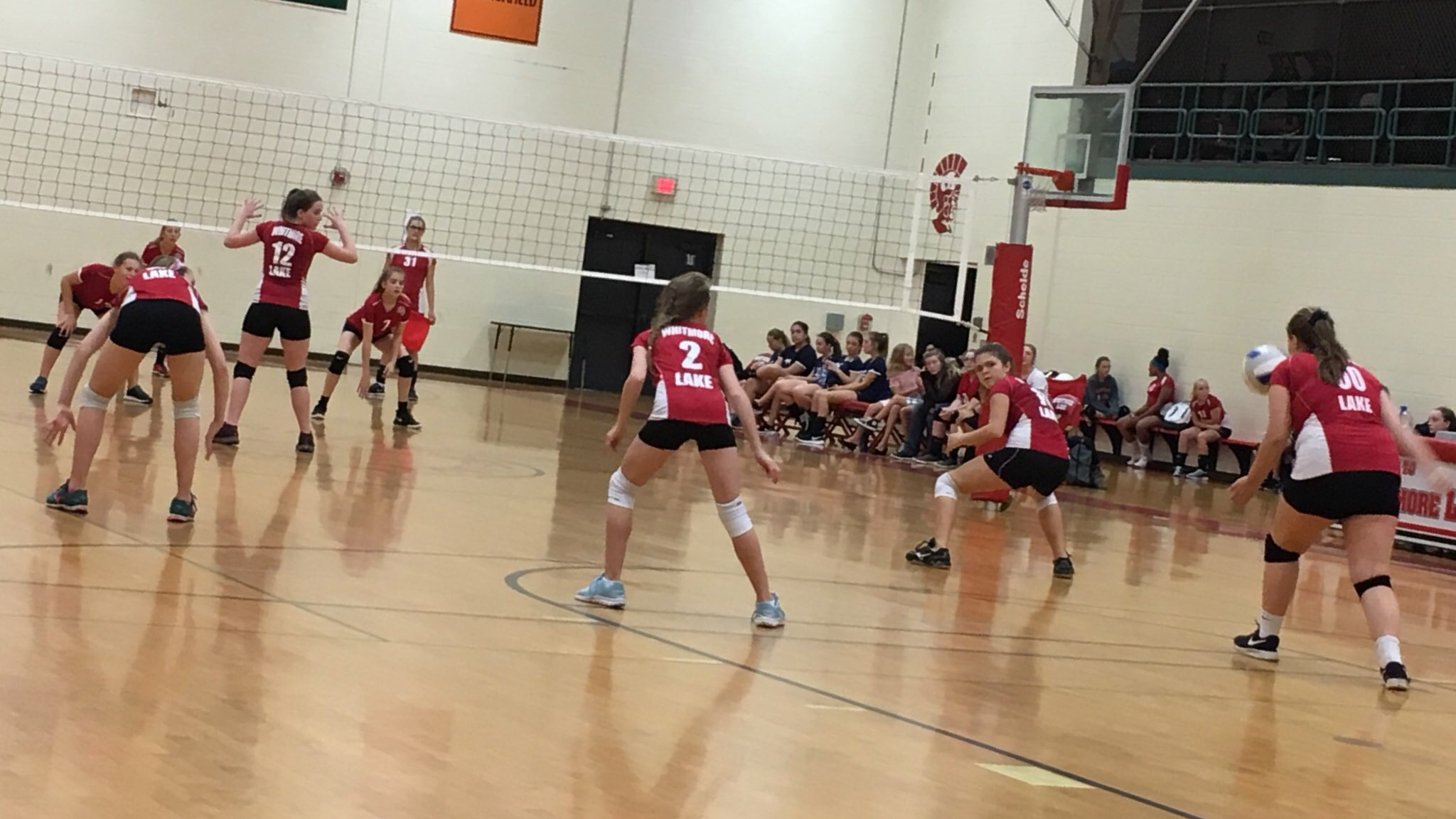 MS volleyball competes in tri match @ Melvindale