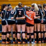 Girls Varsity Volleyball beats East River 3 – 0