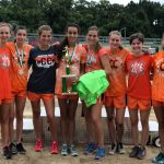 Girls Varsity Cross Country finishes 1st place at Spikes and Spurs Classic