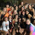 Girls Varsity Swimming finishes 1st place at Metro Championship