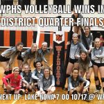 WPHS Volleyball Wins District Quarter Final vs Colonial