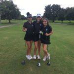 Girls Varsity Golf finishes 1st place vs.  Colonial, University
