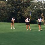Girls Varsity Golf finishes 1st place vs, Wekiva, Lyman
