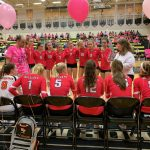 Girls Volleyball falls to Bishop Moore 3-2 in the Dig For A Cure Charity Match
