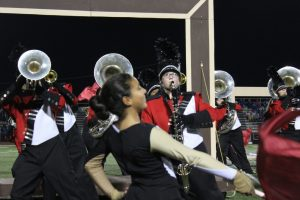 Band Performs on Senior Night