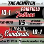 Football Playoffs Regional Semi-Final Preview:  Fairfield Indians (10-1)