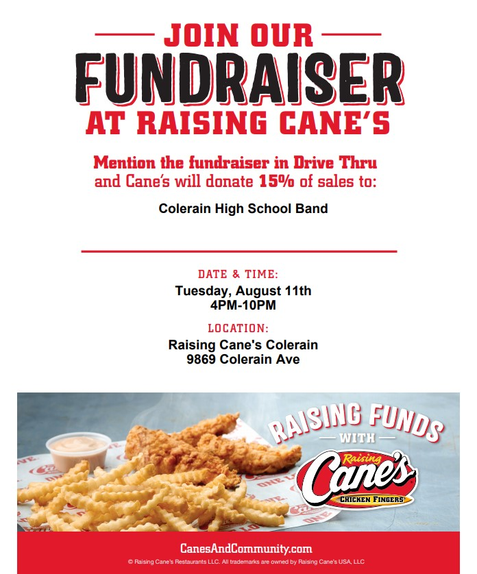 Marching Band Fundraiser on 8/11