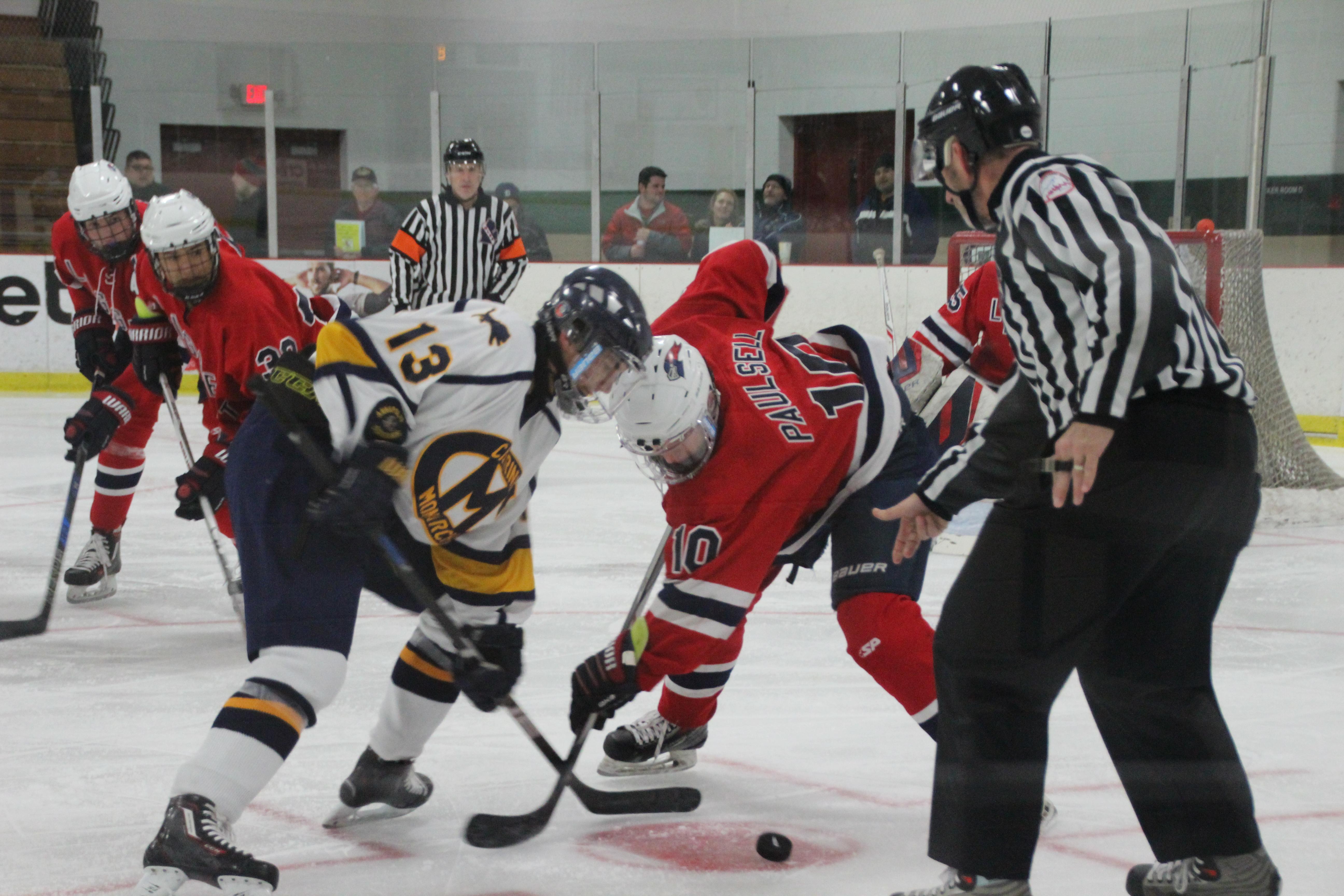 Cabrini Team Home Monarchs Sports Versity R16 Red Boys Varsity Hockey Jan 16 Chs Ice Vs University Liggett 01 13 18
