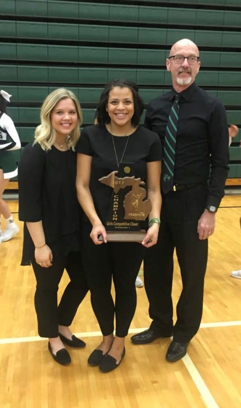 Coach Nicole Hills Named State of Michigan Division One Cheer Coach of the Year