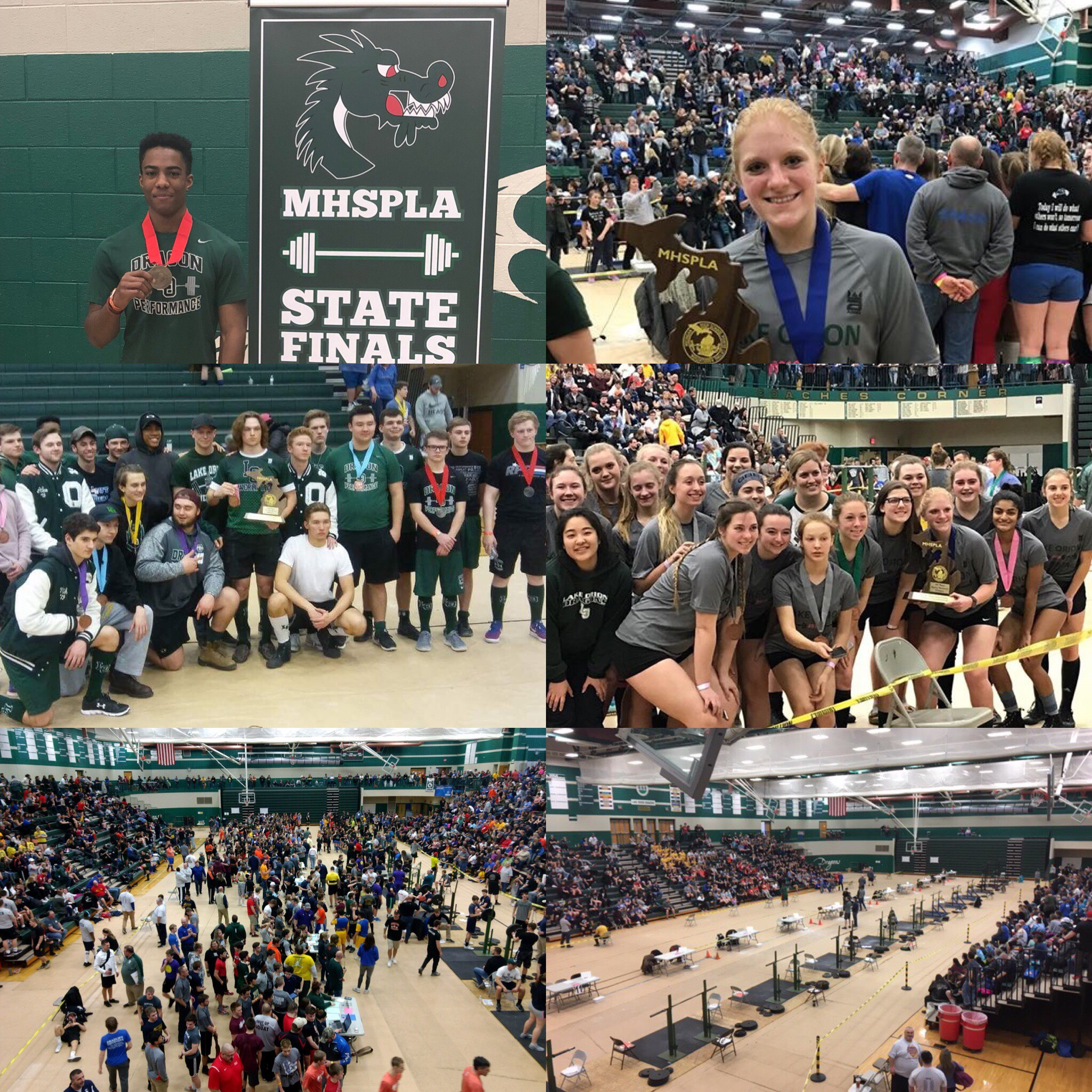 Coed Varsity Powerlifting finishes 3rd place at MHSPLA State Championships