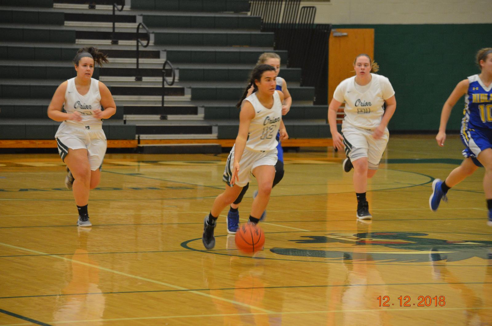 LO Girls Basketball Beats Midland 46-43