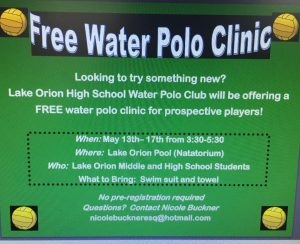 Free Water Polo Clinic