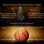 Basketball Senior Night
