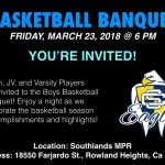 Boys Basketball Banquet 3/23