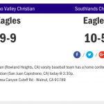 Baseball Sweeps Saddleback Valley Christian