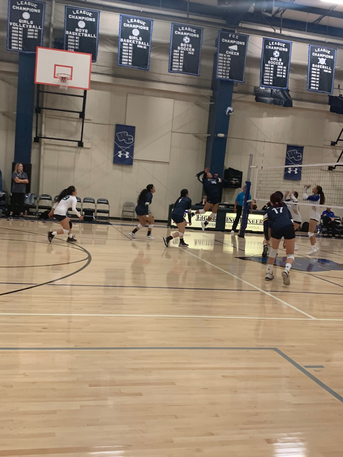 Varsity Volleyball catches fire!